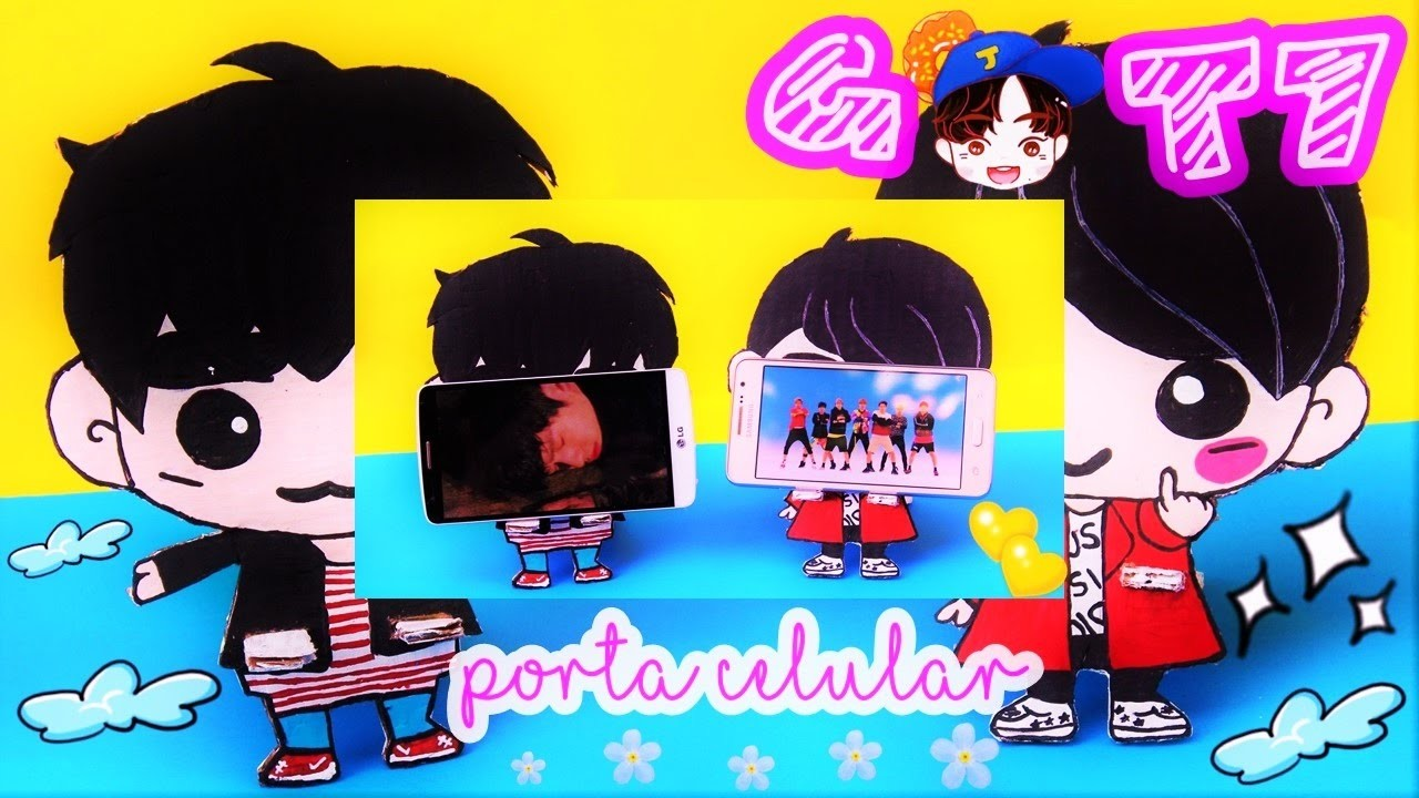 DIY K-POP : CREA TU PROPIO PORTA CELULAR GOT7 ♡ (FACIL Y BARATO) Manualikpop