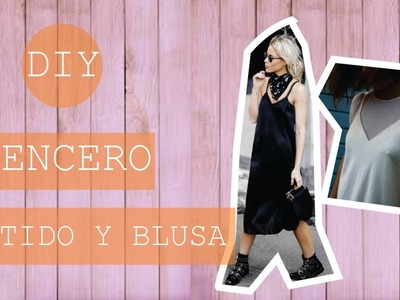 DIY Lencero blusa-vestido. slip dress