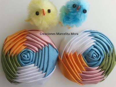 Flor Torbellino o Pentagonal (5 lados ycolores )- DIY-Flower Fabric Easy Fabric-