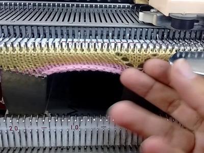 Zapatito de bebé tejido a máquina parte 3