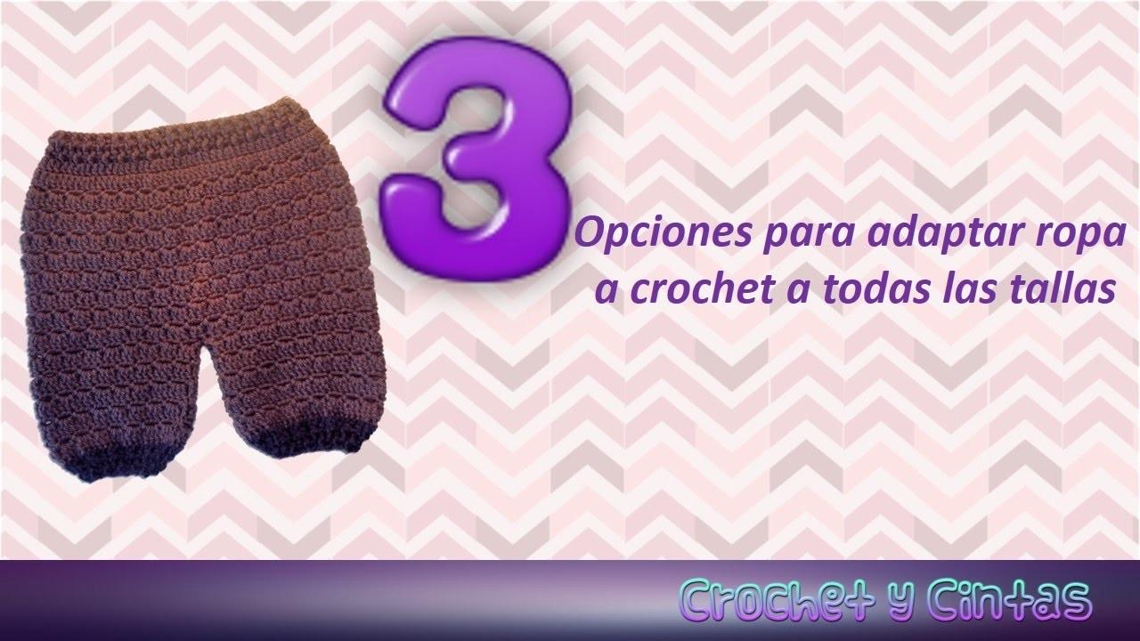 Adaptar ropa crochet a todas las tallas ☺ Opción 2 ¿Cómo guiarse por la tabla de medidas?