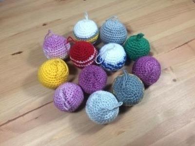 Bolas de navidad tejidas a crochet facil