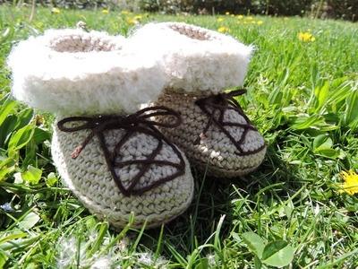 Botitas nuevas de bebé - Crochet Baby Boots