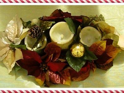 Como decorar un centro de mesa de navidad super fácil y sencillo