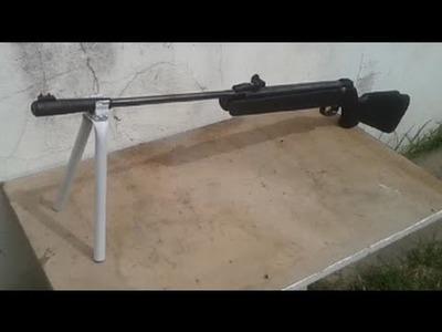 Como hacer bipode casero para rifle de aire comprimido con tubo de pvc