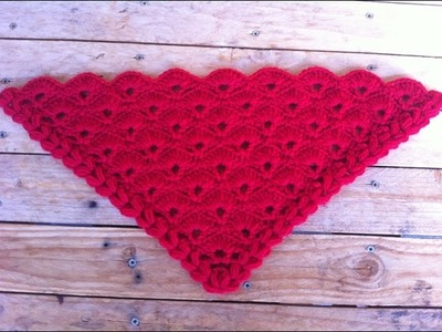 Crochet Chal abanicos muy facil de tejer paso a paso