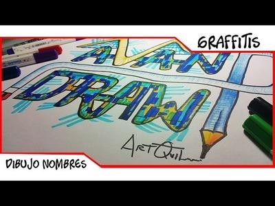 Dibujar Nombres En Graffitis: Avan D Draw | Como Dibujar Letras en 3d Fácil en papel | ArtQuit Draw
