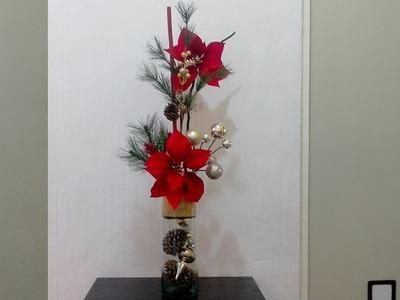 Haz un hermoso arreglo floral navideño