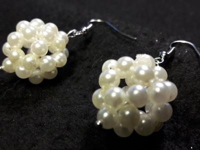 Hermosos aros de perlas con pentabolas. .-Clase #27!!!