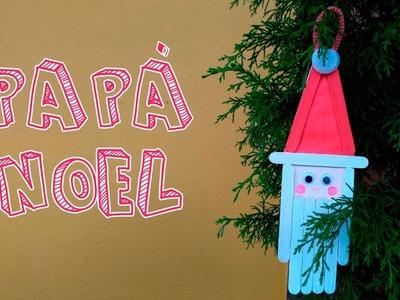 Papá Noel hecho con palitos de paleta│Candy Bu