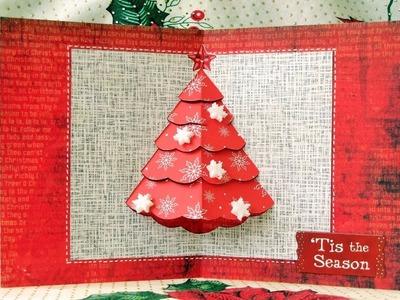 Tarjeta de Navidad Pop-up facil y Bonito - Como hacer Tarjeta de Navidad