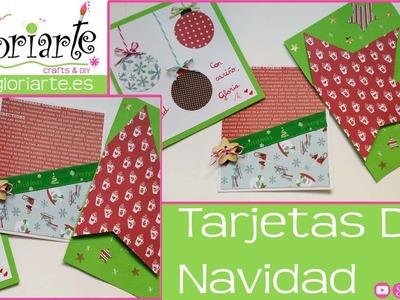 Tarjetas de navidad 3 ideas. Christmas cards 3 ideas.