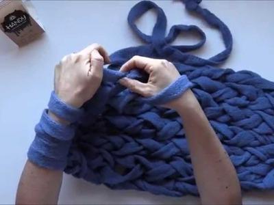 Aprende a tejer con las manos (Infinity Scarf) ¡en menos de 5 minutos!