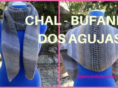 CHAL-BUFANDA DOS AGUJAS