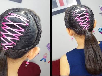 Cola Corset - Corset Ponytail | Trenzas y Peinados | Peinados Para el Colegio