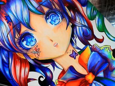 Colorea con Marcadores! Dibuja Manga con  Copic y mas!