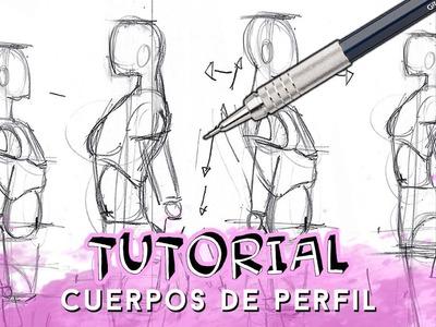 COMO DIBUJAR CUERPOS DE PERFIL (HOMBRE Y MUJER) | Why So Gurin
