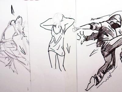 Cómo Dibujar Personas Paso a Paso: Como dibujar la ropa en movimiento y sus secretos,