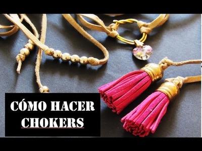 Cómo hacer CHOKERS! | Mariana Gómez