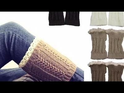Como hacer mis propios calentadores para botas