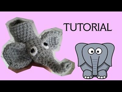 Cómo hacer pantufla de elefante para niños