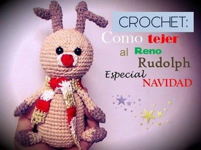 CROCHET NAVIDAD: Como tejer un AMIGURUMI del reno Rudolf (diestro)