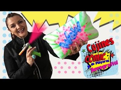 Pinta y crea Cojines estilo Cómic con Aerografiti y Playeras viejas :: Chuladas Creativas