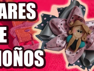 Como Hacer Pares de Moños faciles de liston,Moño Perfecto Tutorial DIY, video 560, DIY Hair Bow