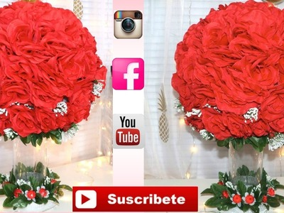 DIY CENTRO DE MESA BODA DOLLAR TREE.DIY CENTERPIECE WEDDING DOLLAR TREE