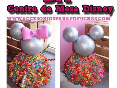 DIY Como hacer un Centro de mesa Mickey y Minnie El Rincón de Noe