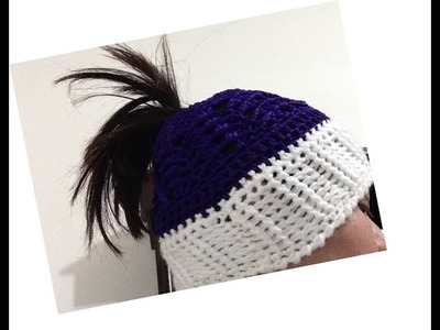 Gorro para cabello largo BIEN EXPLICADO Gorro de moda tejido a crochet  Messy Bun