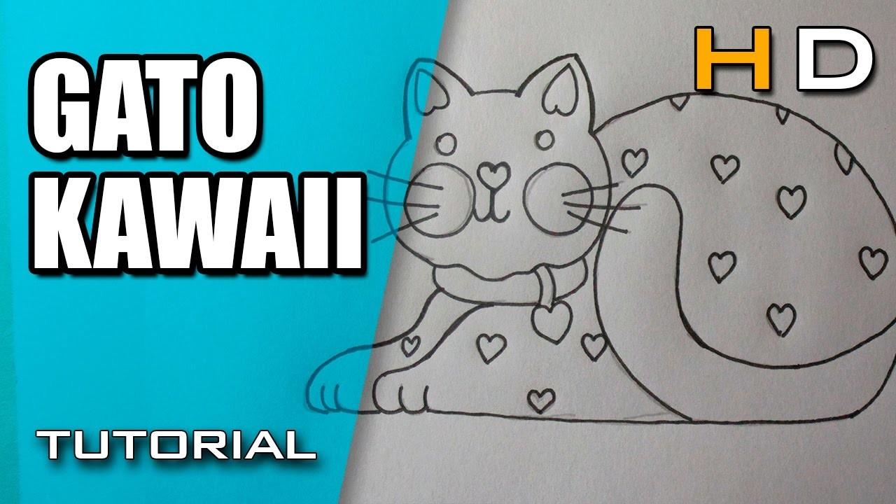 Como Dibujar Un Gato Kawaii Facil Paso A Paso Dibujo De Un Gatito