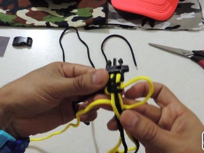 Como hacer una pulsera paracord tejido cobra , facil rapido y sencillo en español latino