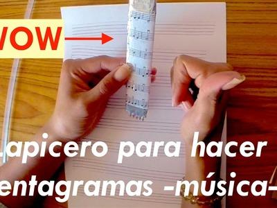 """DIY Lapicero para músicos """"Fácil y rápido"""""""