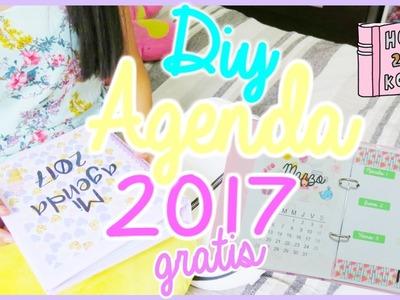 ¡DIY! agenda 2017 para imprimir gratis   Minnifanny