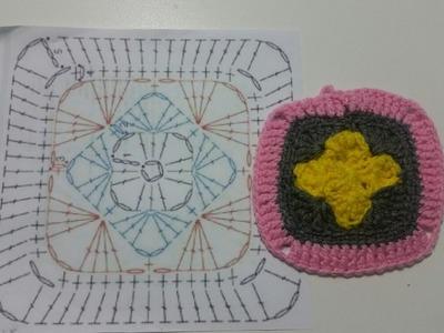 Interpretando Gráficos (Granny square crochet)