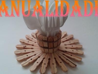 MANUALIDADES PINZAS DE MADERA