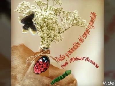 Mis animalitos, flores ,cesta y frutas a ganchillo realizados en el mes de julio