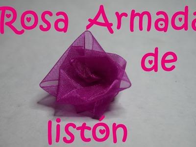 Rosa Armada de listón - Tutorial - DIY