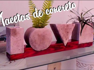 VALENTINES DAY DIY. HOW TO MAKE A CONCRETE LOVE POT. COMO HACER UNA MACETA DE CONCRETO