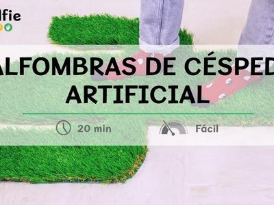 Alfombras con césped artificial · Handfie DIY