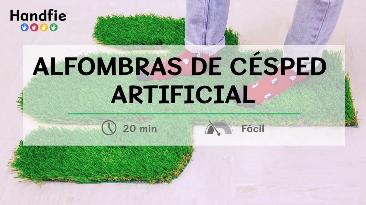 Alfombras con c sped artificial handfie diy my crafts for Alfombra cesped artificial