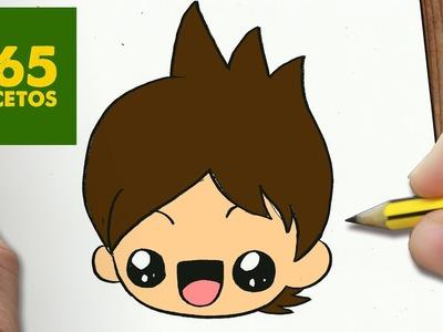 COMO DIBUJAR NATHAN DE YO-KAI WATCH KAWAII PASO A PASO - Dibujos kawaii fáciles