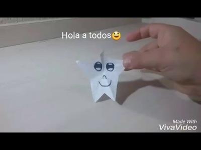 Como hacer una estrella de papel-Manualidades faciles