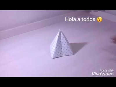 Como hacer una pirámide 3D de papel-Manualidades faciles