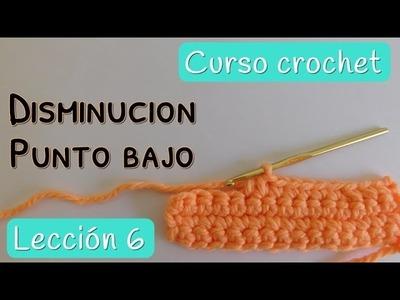 Crochet para principiantes: Disminución en punto bajo o medio punto