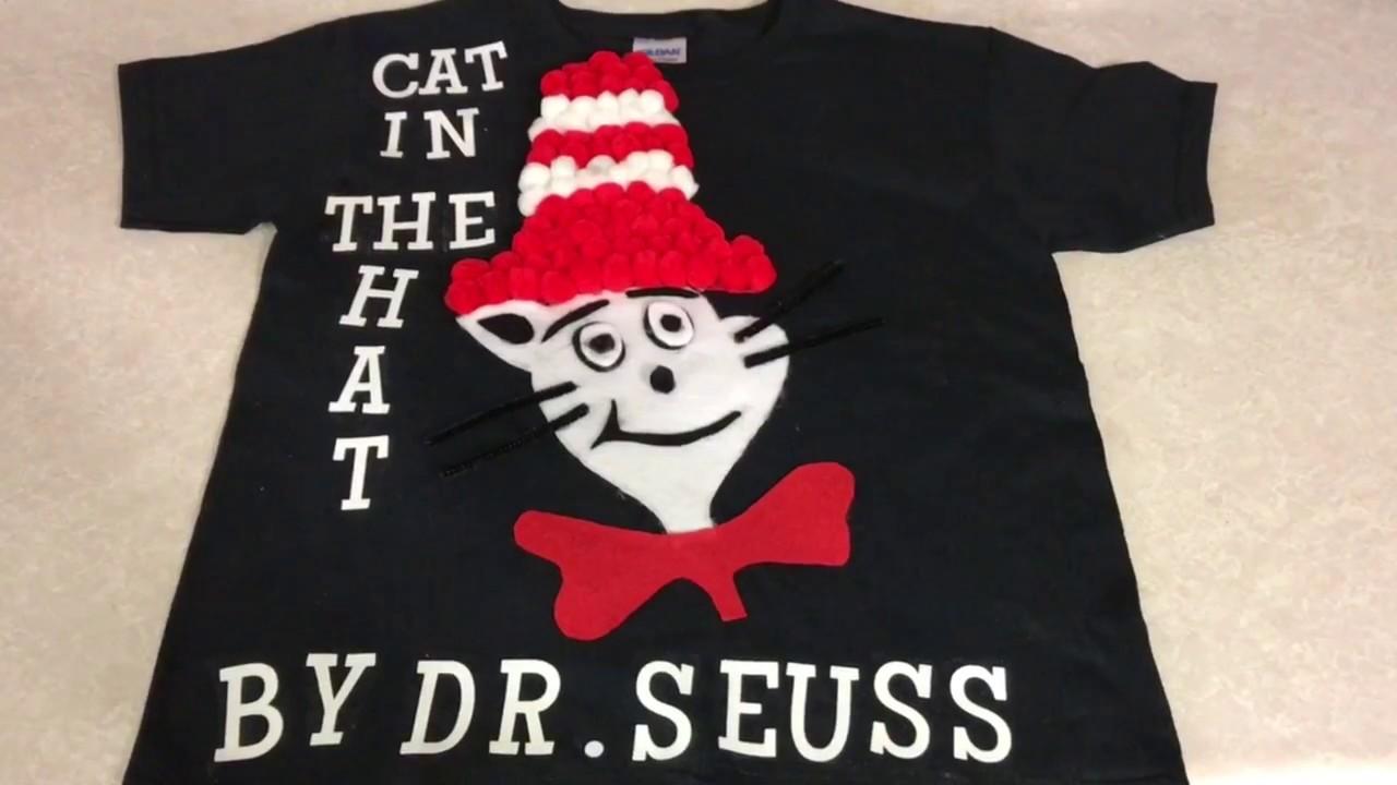 DIY camisa de cat in the hat para DR SEUSS DAY