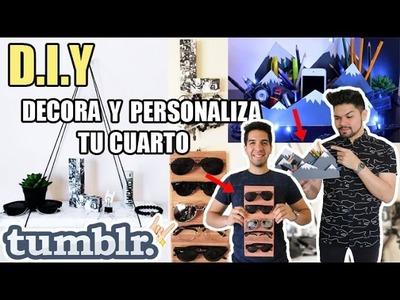 DIY: DECORA Y ORGANIZA TU CUARTO TUMBLR |  FÁCIL Y RÁPIDO