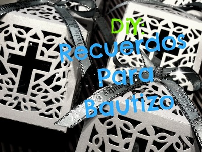 DiY: Recuerdos Facil y Lindos Para Bautizo!!!!!!