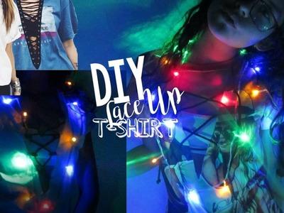 DIY T-SHIRT LACE UP- Blusas Tumblr